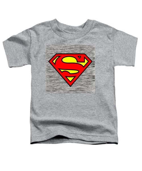 Toddler T-Shirt featuring the mixed media Superman by Marvin Blaine
