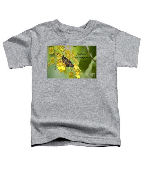 Butterfly Scripture Toddler T-Shirt