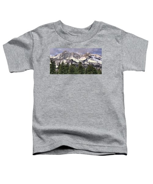 A Beautiful View Of Mount Ogden From Snowbasin 2/1 Pano Toddler T-Shirt