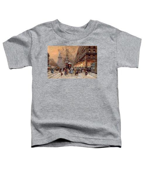 A Busy Boulevard Near The Place De La Republique Paris Toddler T-Shirt
