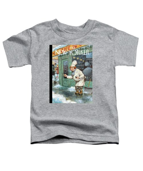 A Chef Lightly Pinches Salt On The Sidewalk Toddler T-Shirt