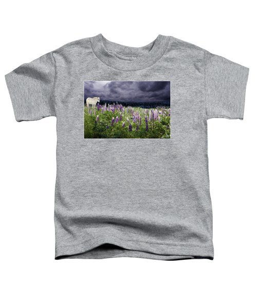 A Childs Dream Among Lupine Toddler T-Shirt