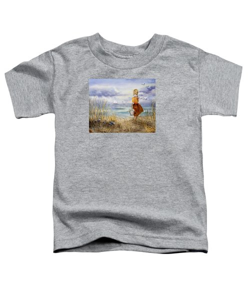 A Girl And The Ocean Toddler T-Shirt
