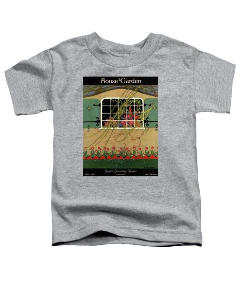 A House And Garden Cover Of A Window Toddler T-Shirt