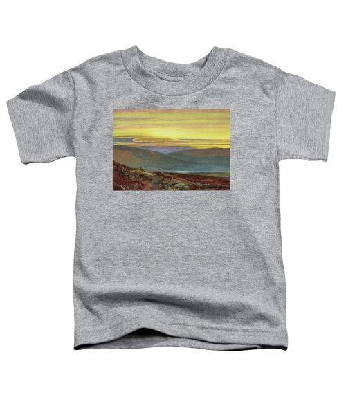 A Lake Landscape At Sunset Toddler T-Shirt