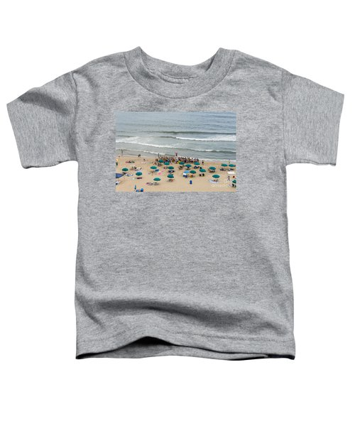 A Lifeguard Gives A Safety Briefing To Beachgoers In Ocean City Maryland Toddler T-Shirt