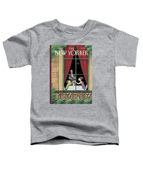A Mother And Son Enjoy A Meal Together Toddler T-Shirt