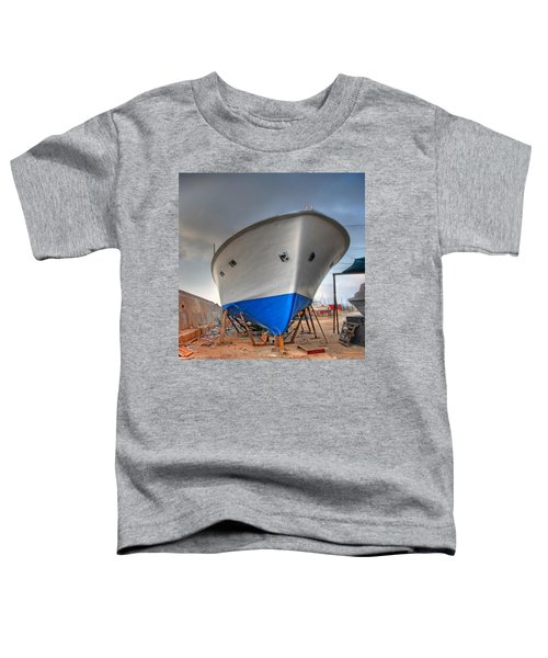 a resting boat in Jaffa port Toddler T-Shirt