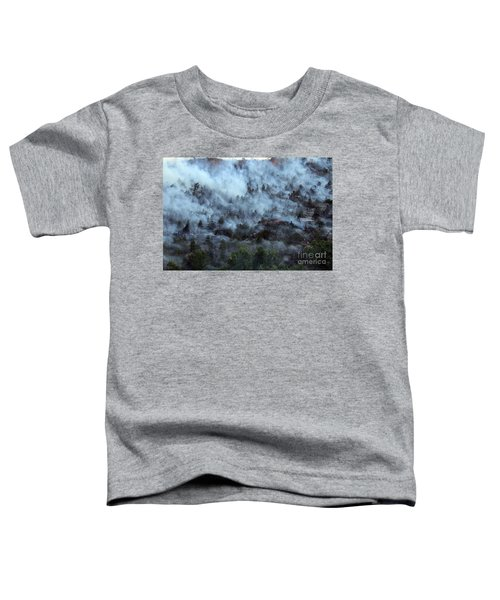 A Smoky Slope On White Draw Fire Toddler T-Shirt
