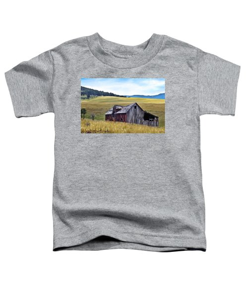 Toddler T-Shirt featuring the painting A Time In Montana by Susan Kinney