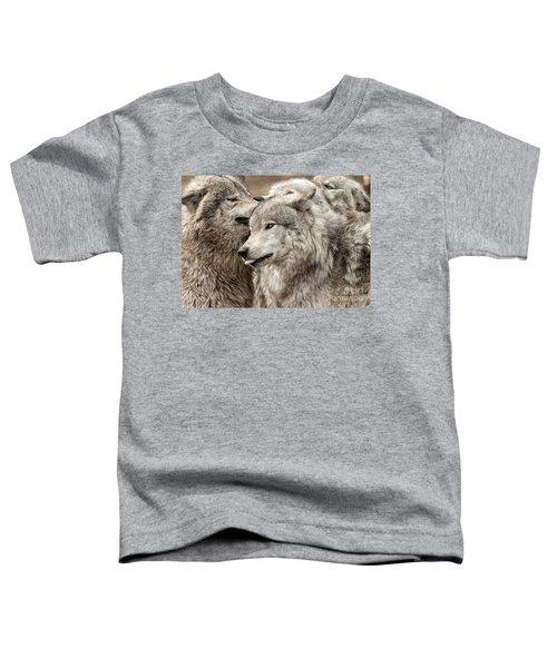 Adult Timber Wolf Toddler T-Shirt