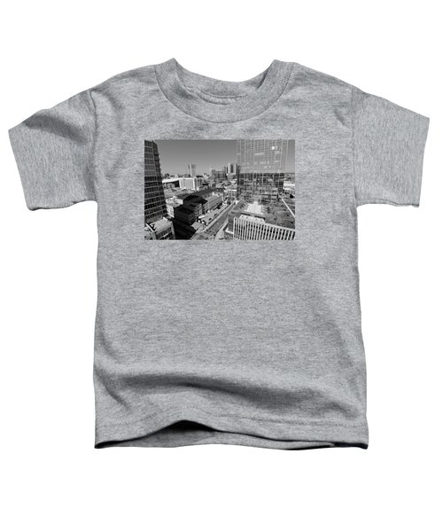 Aerial Photography Downtown Nashville Toddler T-Shirt by Dan Sproul