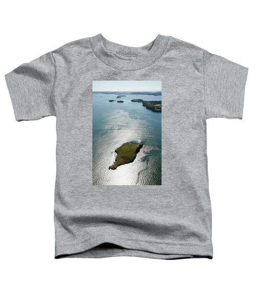Aerial View Of Hard Head Island, Maine Toddler T-Shirt