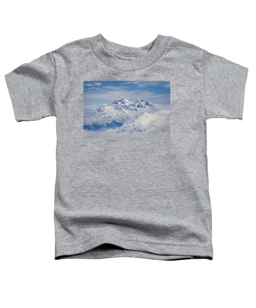Aerial View Of Mount Everest Toddler T-Shirt by Hitendra SINKAR
