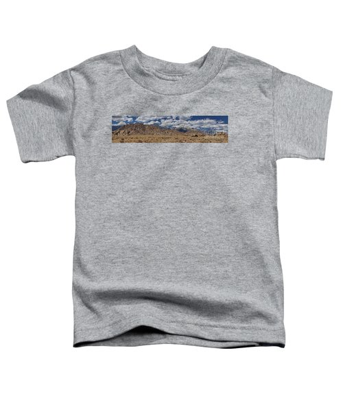 Alabama Hills And Eastern Sierra Nevada Mountains Toddler T-Shirt by Peggy Hughes