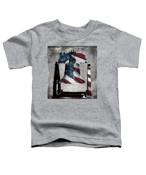 All American Liberty Bell Art_denim Toddler T-Shirt