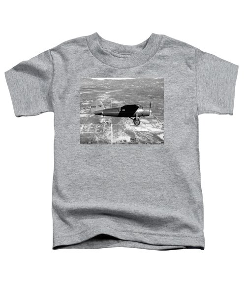 Amelia Earhart In Her Plane Toddler T-Shirt