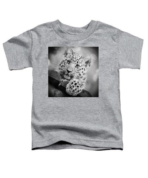Amur Leopard Cub Portrait Toddler T-Shirt