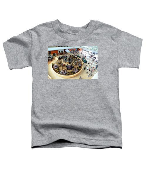 An Aerial View Of The Marina Bay Sands Hotel Lobby Singapore Toddler T-Shirt