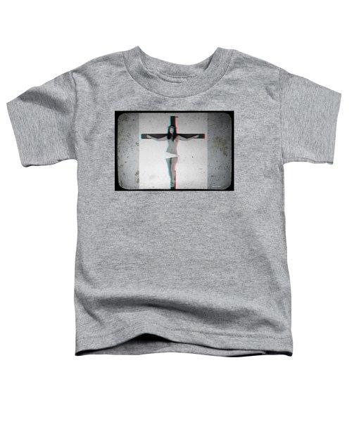 Anaglyph Asian Female Jesus Toddler T-Shirt