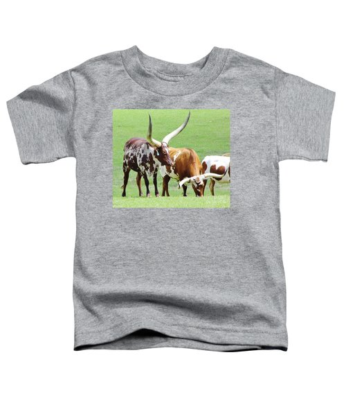 Ankole And Texas Longhorn Cattle Toddler T-Shirt