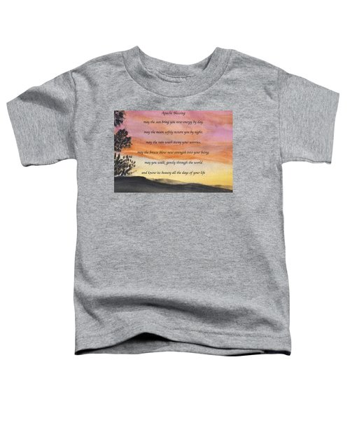 Apache Blessing With Sunset Toddler T-Shirt