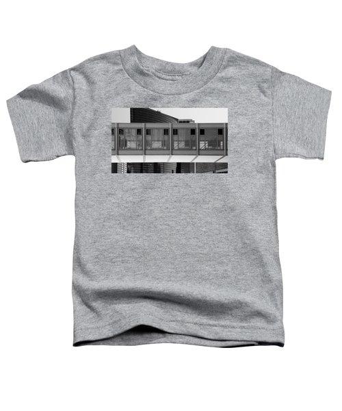 Architectural Pattern Glass Bridge Black White Toddler T-Shirt
