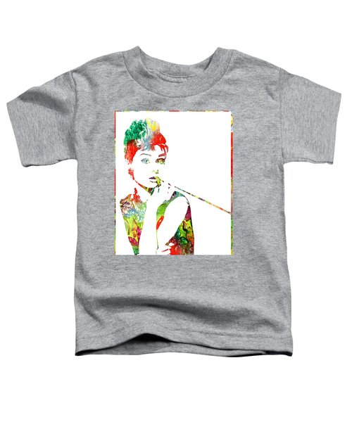 Audrey Hepburn - Watercolor Toddler T-Shirt