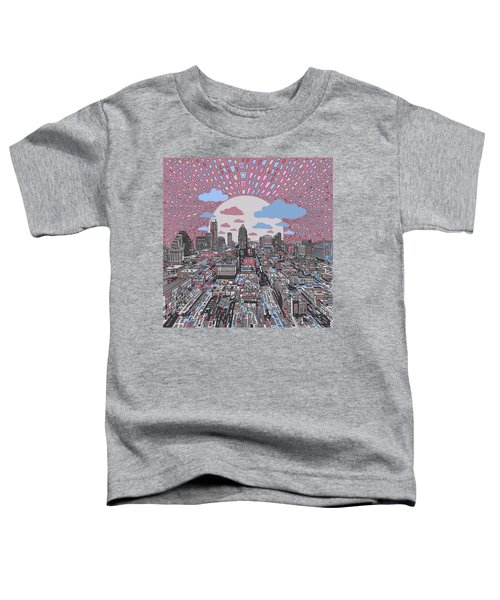 Austin Texas Abstract Panorama 3 Toddler T-Shirt by Bekim Art