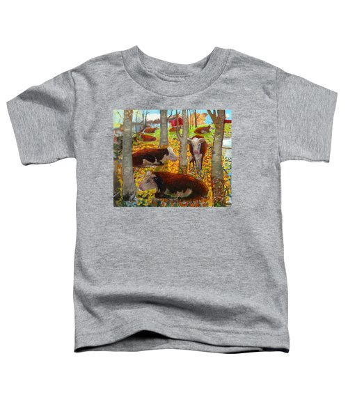 Autumn Cows Toddler T-Shirt