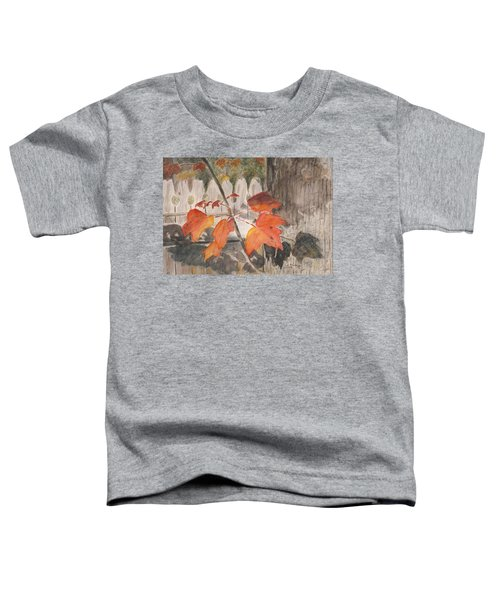 Autumn Leaves On Belmont St Toddler T-Shirt