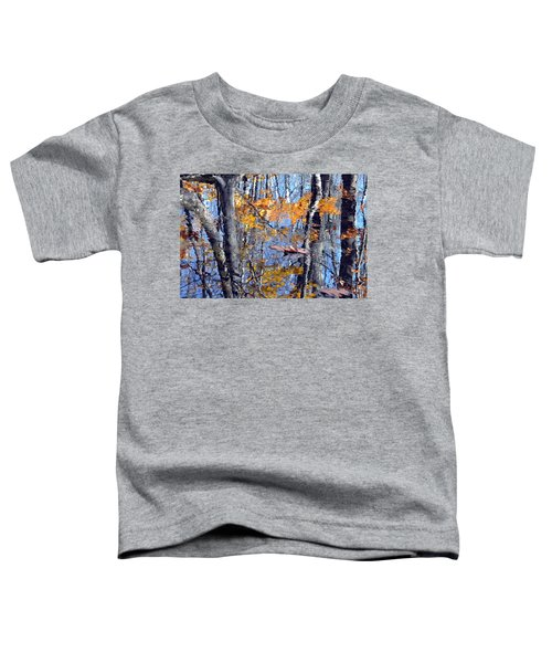 Autumn Reflection With Leaf Toddler T-Shirt