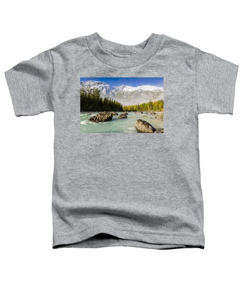 Autumns Colors Contrast With Winters Toddler T-Shirt by Ray Bulson