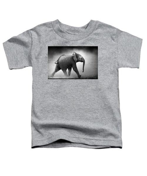 Baby Elephant Running Toddler T-Shirt