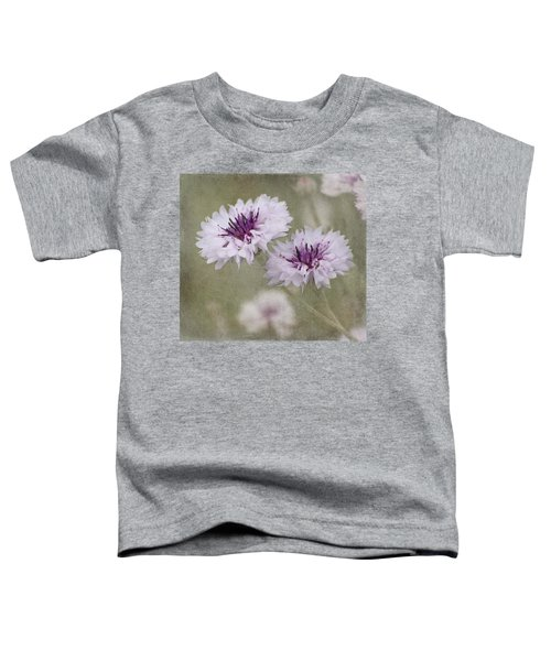Bachelor Buttons - Flowers Toddler T-Shirt