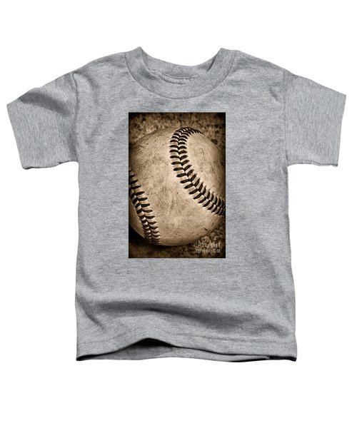Baseball Old And Worn Toddler T-Shirt