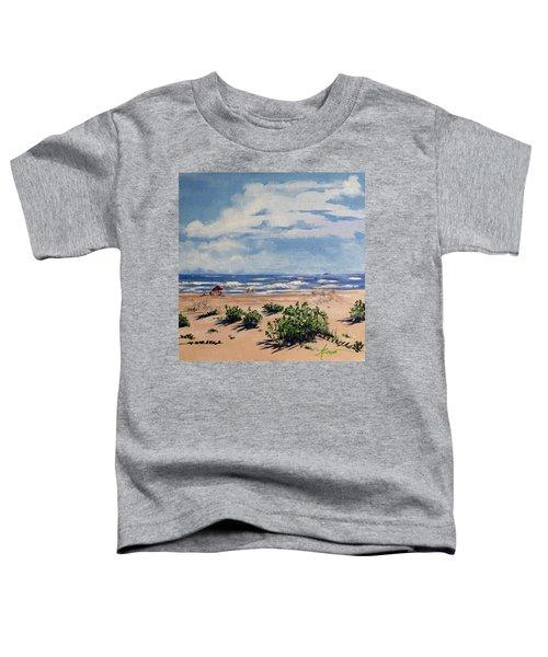 Beach Scene On Galveston Island Toddler T-Shirt