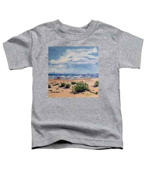 Beach Scene On Galveston Island Toddler T-Shirt