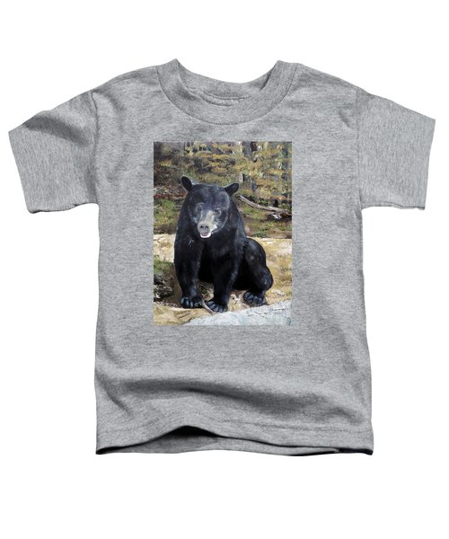Bear - Wildlife Art - Ursus Americanus Toddler T-Shirt