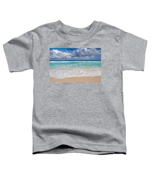 Beautiful Beach Ocean In Cancun Mexico Toddler T-Shirt