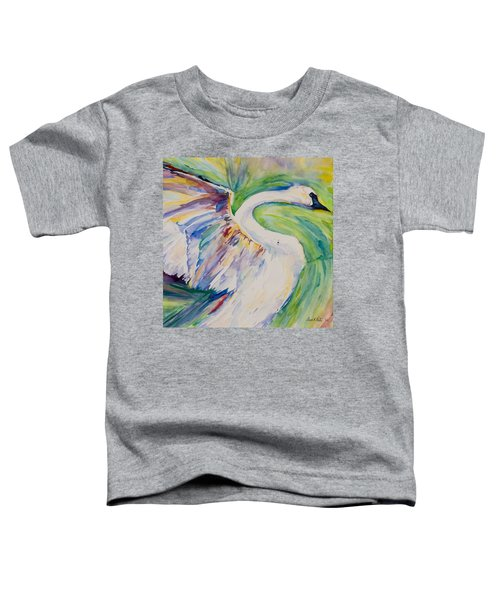 Beauty And Grace - Original Watercolor Painting Toddler T-Shirt