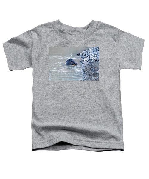 Beaver Chews On Stick Toddler T-Shirt