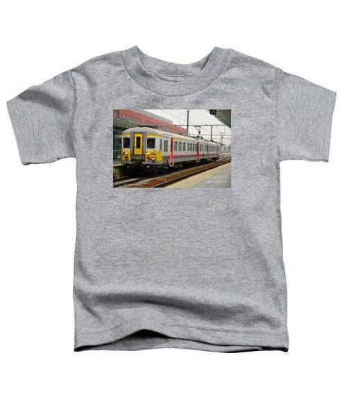 Belgium Railways Commuter Train At Brugge Railway Station Toddler T-Shirt