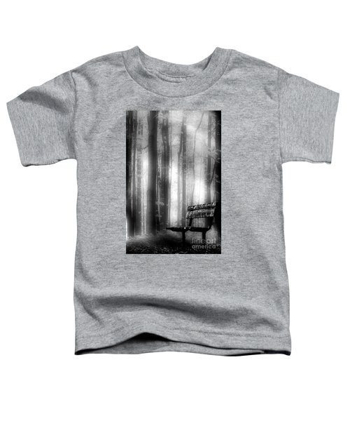 Bench In Michigan Woods Toddler T-Shirt
