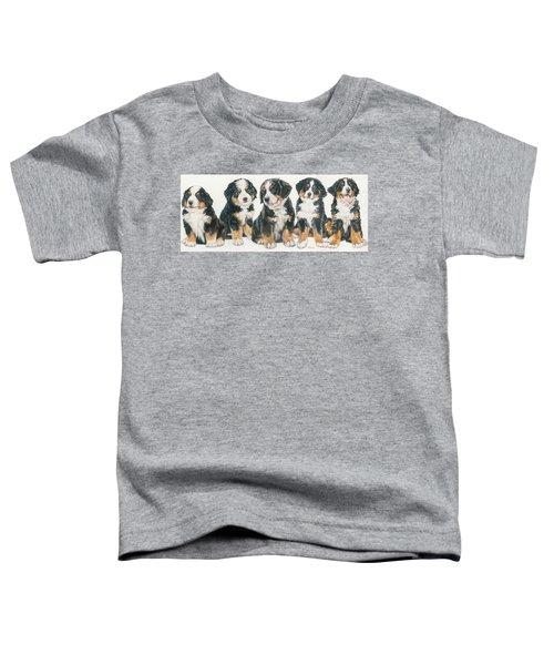 Bernese Mountain Dog Puppies Toddler T-Shirt