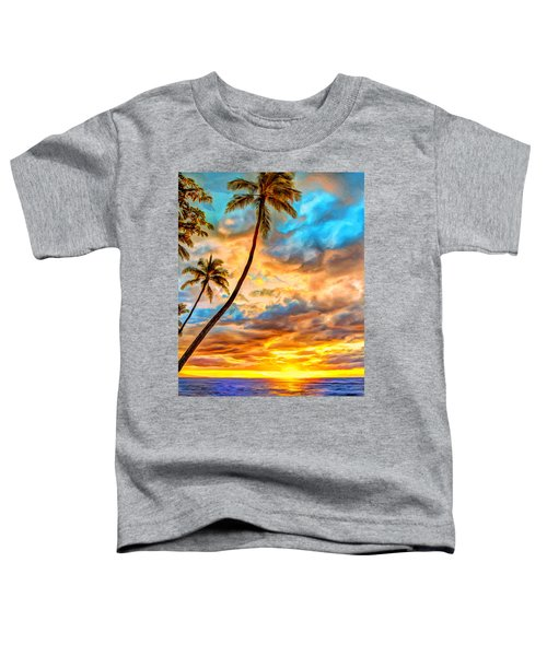 Big Island Sunset Toddler T-Shirt