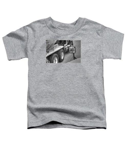 Big Wheels Keep Turning  Toddler T-Shirt