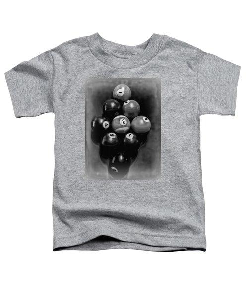 Billiards Art - Your Break - Bw  Toddler T-Shirt