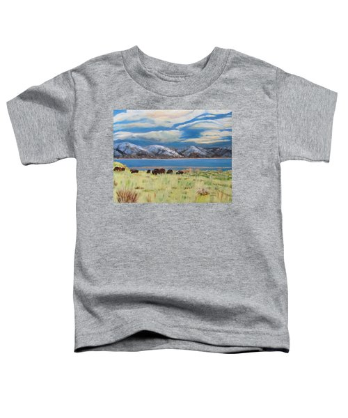 Bison On Antelope Island Toddler T-Shirt