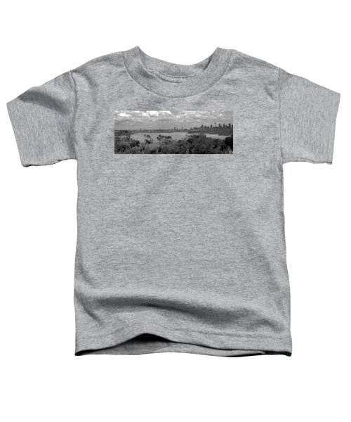 Toddler T-Shirt featuring the photograph Black And White Sydney by Miroslava Jurcik